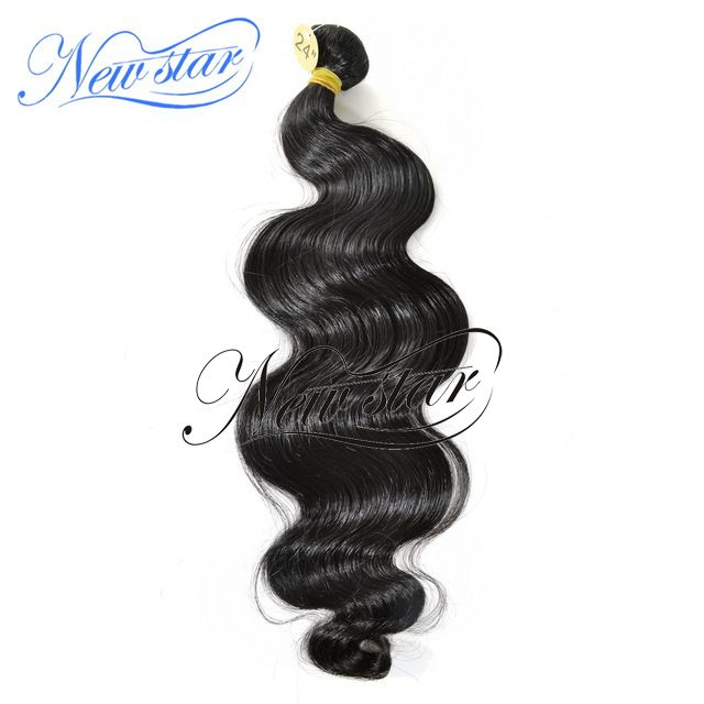 Brazilian Virgin Hair 1 Bundle - New Star Eurasian body wave hair weave has a beautiful and lasting crimped pattern with a curly end, virgin hair with tangle free and natural color. The pattern hold the curl extremely well and durable enough to withstand the frequent usage, give wonderful fullness to your hair. This Eurasian body wave is the future star among most hair products, even better Brazilian body waving hair.