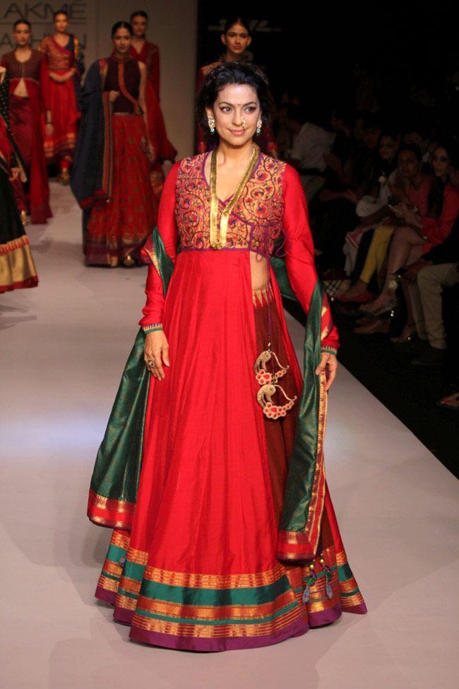 Juhi Chawla for PINNACLE by Shruti Sancheti http://www.shrutisancheti.com/ @ Lakme Fashion Week Winter-Festive 2013 PHOTO: Yogen Shah