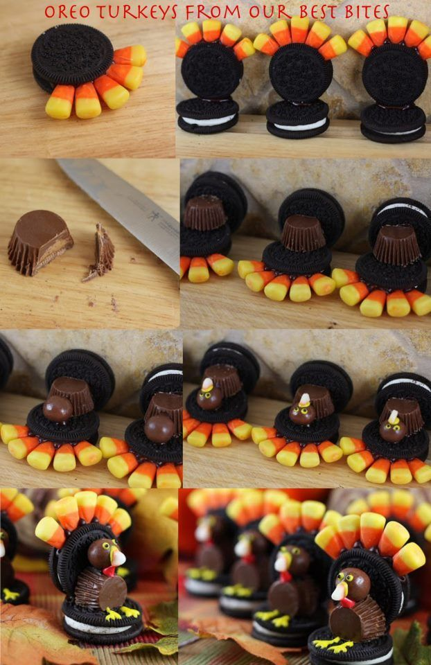 How to make a turkey out of candy thanksgiving