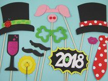 """Photo Booth """"Silvester"""" (Foto-Accessoires)"""