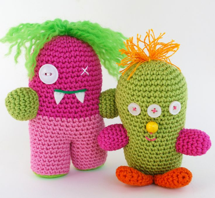 crochet amigurumi, monsters, virkat monster