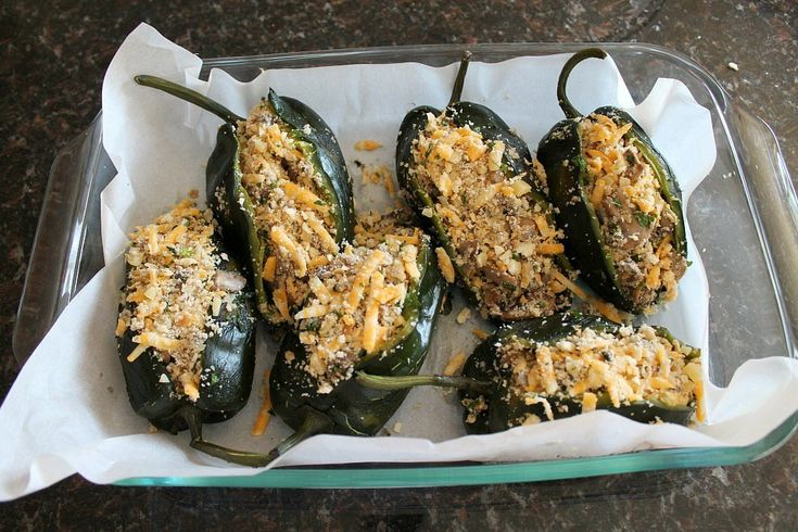 Even Carnivores Won't Be Able to Resist These Vegetarian Stuffed Poblano Peppers