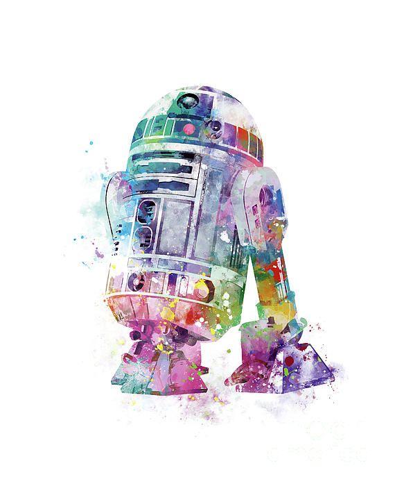 R2 D2 By Monn Print Star Wars Prints Star Wars Art Star Wars Wallpaper