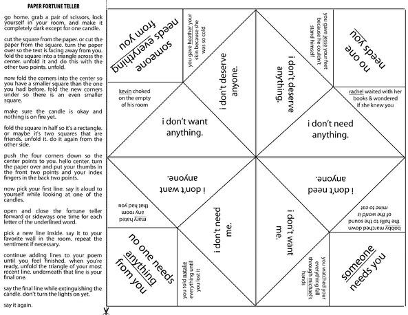 17 best printable paper fortune tellers images on