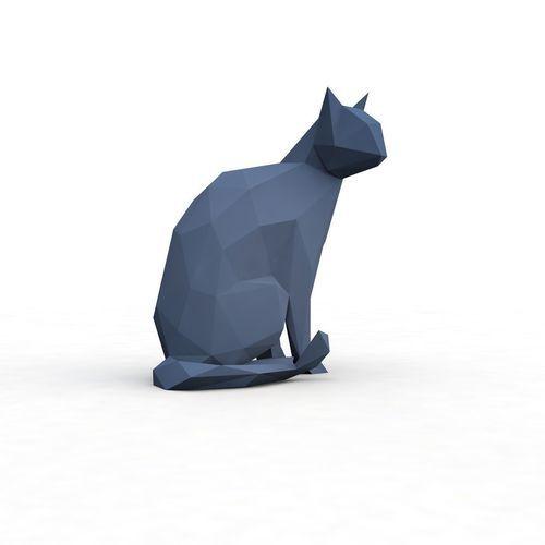 low-poly cat 2   3D Print Model