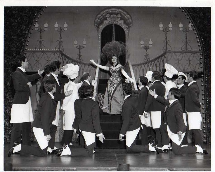 Eve Arden and Galloping Waiters Broadway Hello, Dolly! Musical Stage 1966