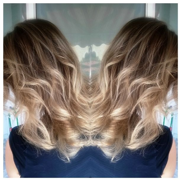 Balayage through a beautiful bronde by Penny Voudouri
