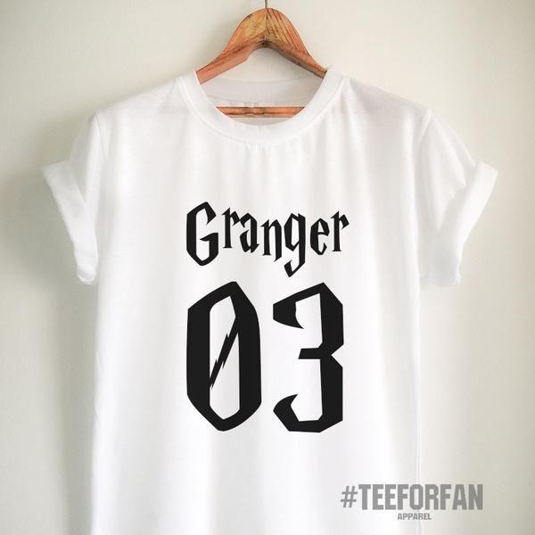 Harry Potter Shirt Harry Potter Merchandise Hermione Granger Shirt T Shirt Clothes Quidditch Jersey Top Tee for Women Girls Men