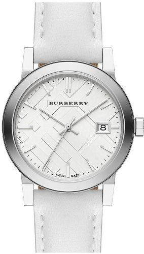 Burberry Check Stamped Leather Ladies Watch BU9128