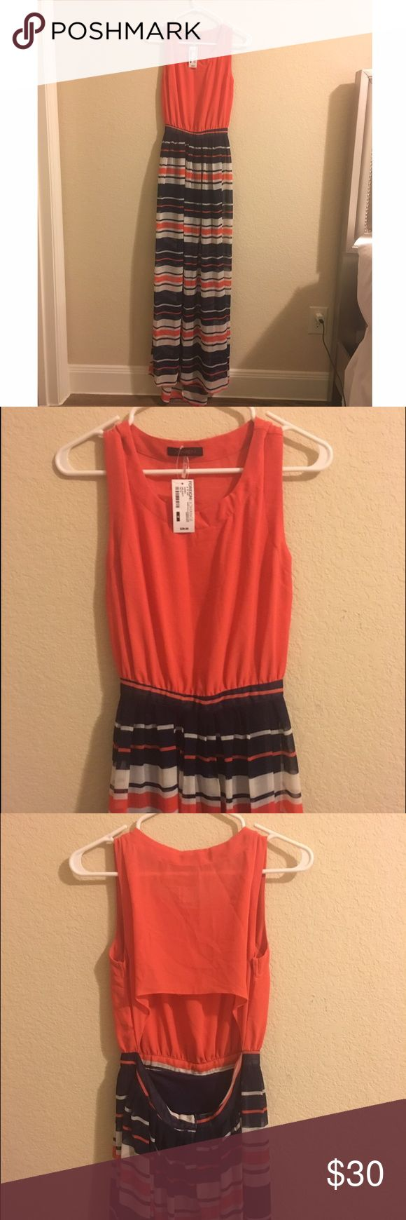 NWT!! Maxi Dress 👗 NWT! Foreign Exchange Summer Max Dress! Supper Cute Cut Out Back | Slit Underneath Foreign Exchange Dresses Maxi