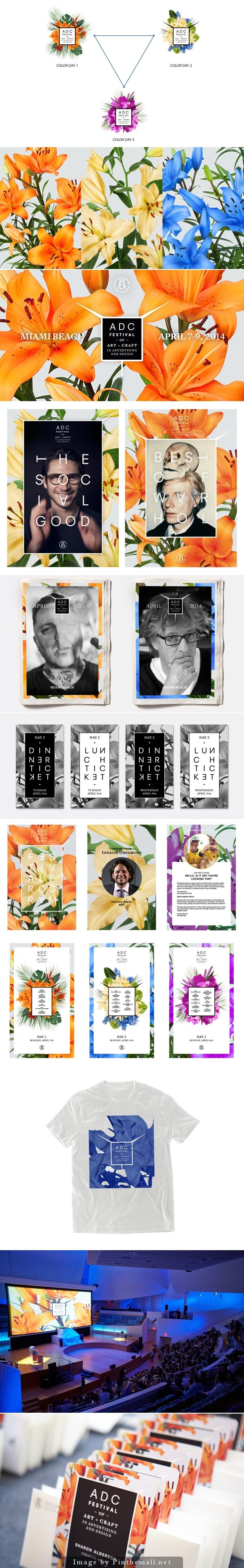 Beautiful identity, love the colors and use of flowers. The posters are amazing too. Art Directors Club Festival Campaign