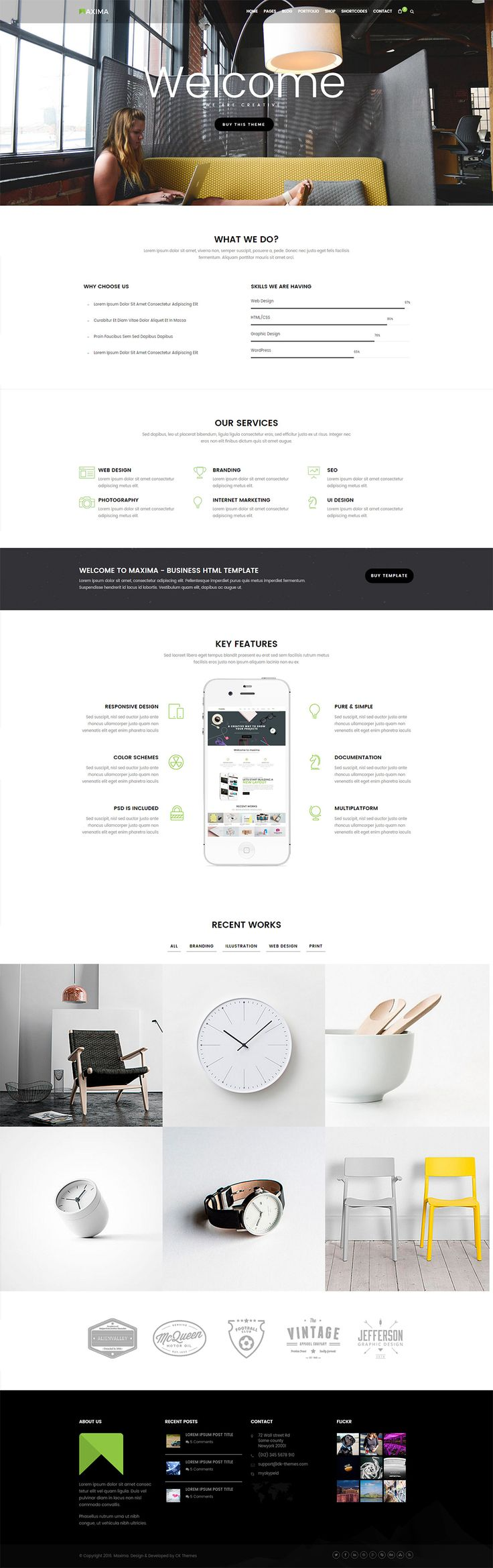 Best 100+ Site Templates images on Pinterest | Design web, Design ...