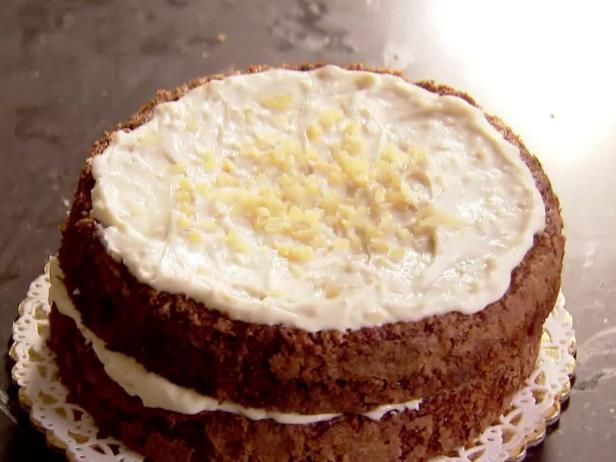 Get Carrot Cake with Ginger Mascarpone Frosting Recipe from Food Network