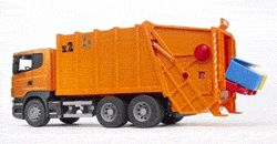 Bruder 03560 - Scania R-series Garbage Truck (orange)