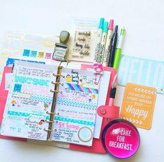 Project Ideas for Websters Pages - Color Crush Collection - Personal Planner Kit - Light Pink