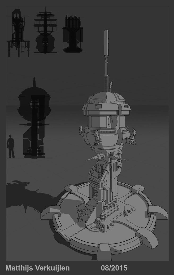 Insurgence Sewers - Tower Concept, Matthijs Verkuijlen on ArtStation at https://www.artstation.com/artwork/insurgence-sewers-tower-concept