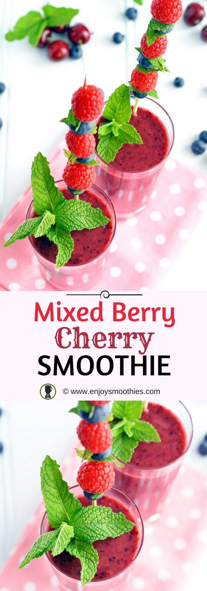 Low in calories and a rich source of powerful antioxidants, cherry smoothies are delicious combined with other berries