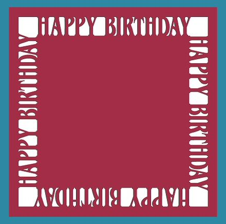 Happy Birthday Frame Card, and various other free to use templates on this blog site. - Krewella Kreations