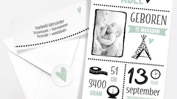 Adresetiketten en sluitzegels die perfect matchen met je geboortekaartje