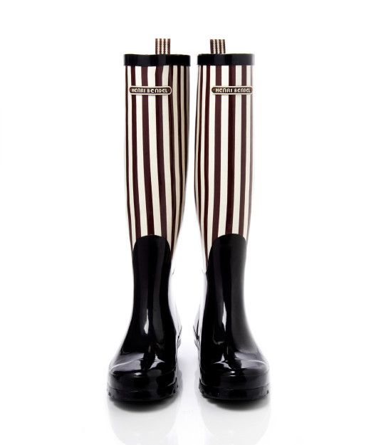 bendel girl stripe wellies - designer wellies - wellington boots for women