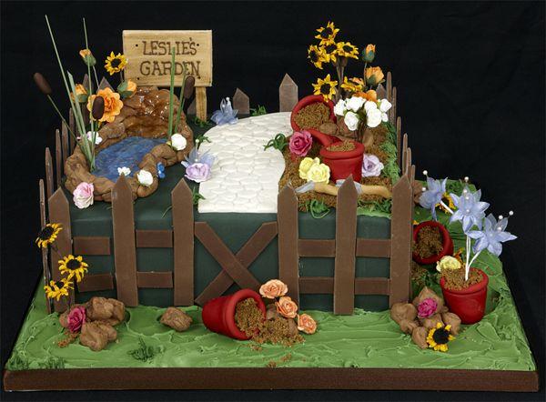 Garden Design Birthday Cake 40 best garden themed cakes images on pinterest | garden cakes