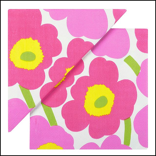 Marimekko Unikko Pink Lunch Napkins, $7.95