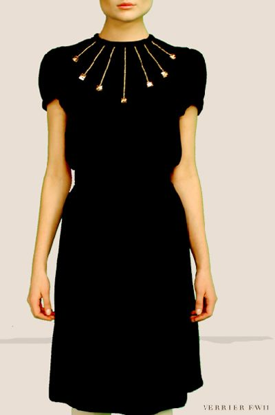 I love simple dresses with that one, killer detail that elevates them above the rest.  Verrier F/W 11.