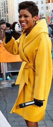 Tamron Hall rockin' a yellow coat