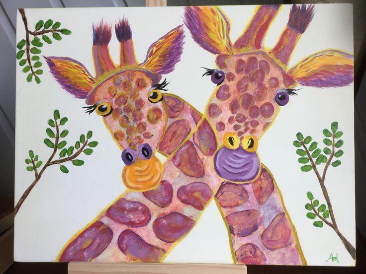 Giraffen voor Oscar en Oliver, de pasgeboren tweeling van de buurtjes