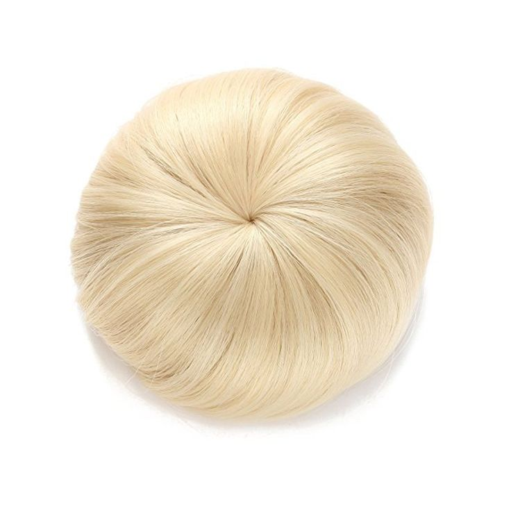 Hisight Synthetic Hair Ballerina Donut Hair Chignons Straight Updo Hair pieces Hair Extensions Hair package (Golden) ** You can get additional details at the image link. #hairtreatment