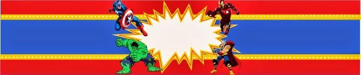 Kit Gratis de los Vengadores. | Ideas y material gratis para fiestas y celebraciones Oh My Fiesta!