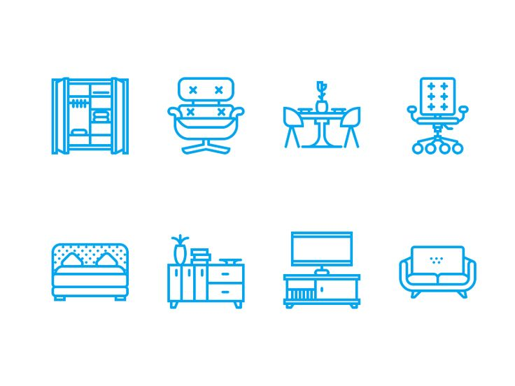Modern Furniture Icon 191 best images about icon on pinterest | logos, behance and