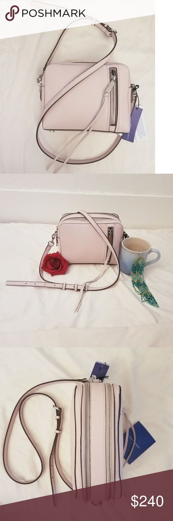 🌻NEW! 🌻Rebecca Minkoff Crossbody 🌻Pale Pink India Crossbody  🌻by Rebecca Minkoff 🌻Genuine Leather 🌻Extra Straps and Care Instructions Included  Absolutely Perfect!   🌻Make An Offer! Rebecca Minkoff Bags Crossbody Bags