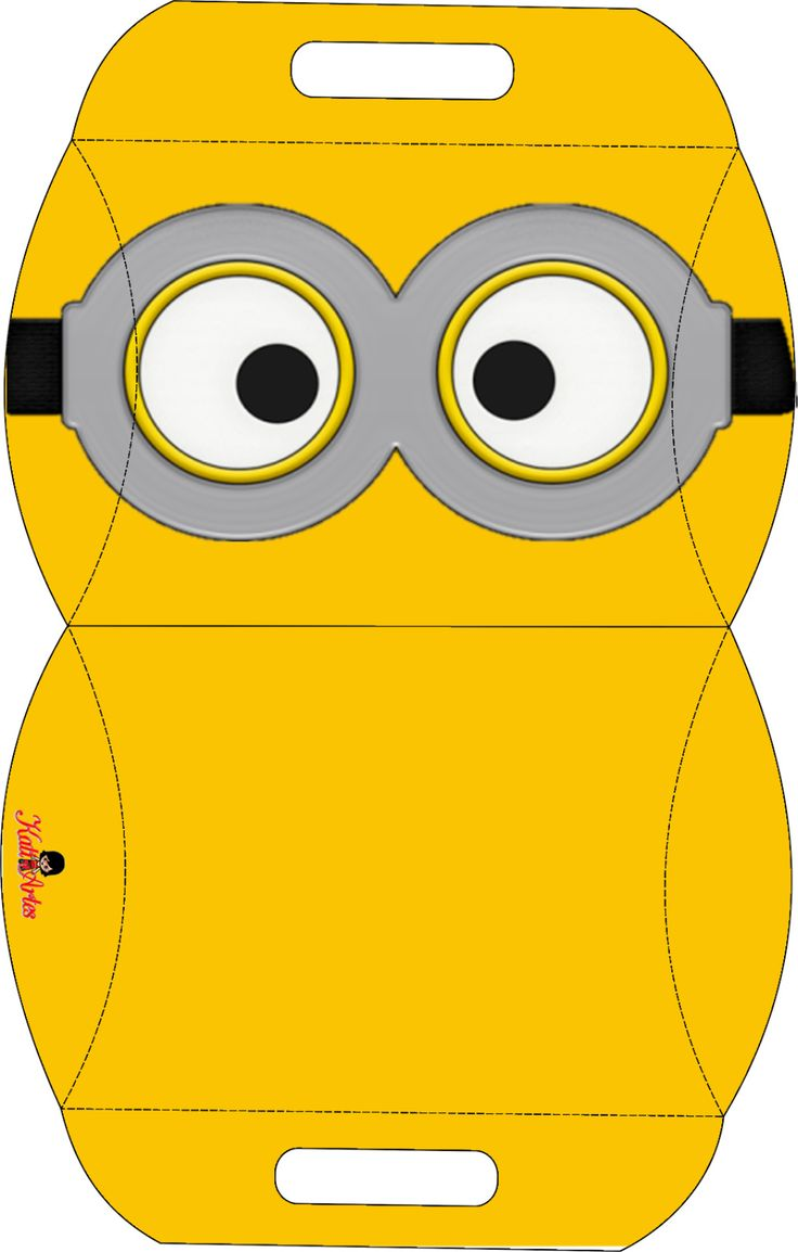 Minions: Free Printable Pillow Box.