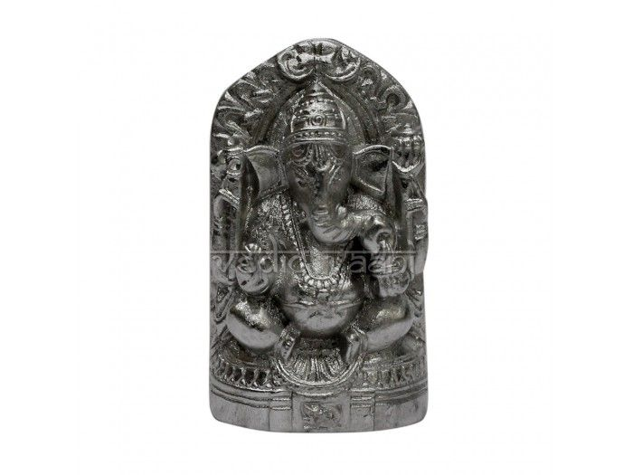 """Lord Ganesha made of pure solidified mercury (Parad). Parad Ganpatti is very effective in removal of hurdles and miseries of life. http://vedicvaani.com/index.php?_route_=Lord-Ganesha-Idol-in-Parad  is revered as the son of the Shiva and Parvati. As the god of success, his names are chanted at the start of any important venture. As per the Brahma Purana, any person, male or female and belonging to any """"Varna""""- Brahmin, Kshatriya, Vaishya or Shudra, who worships Parad idols daily"""