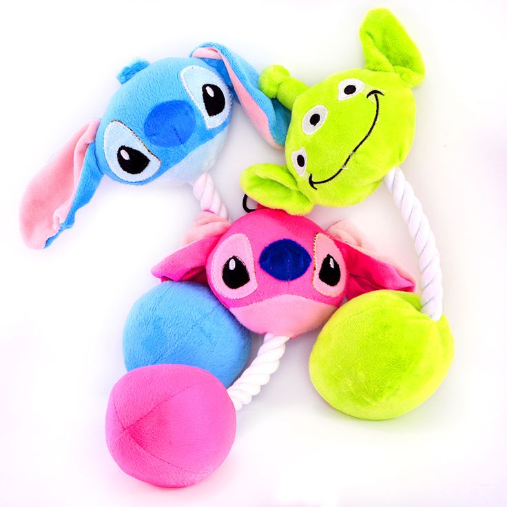 2pcs/lot Stitch Toys For Puppies Pets With Rope Pink Blue Cuddly Sound Cat Dogs Animals Yorkshire Pugs Training Fashion  Product //Price: $12.14      #FirstDayOfSummer