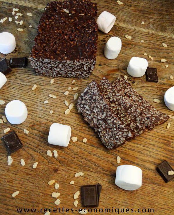 rice crispies chocolat chamallow