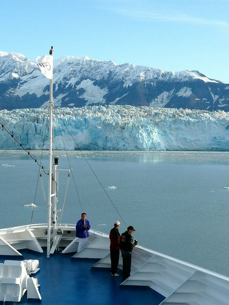 Add this to your Alaska bucket list: Watching Hubbard Glacier from the bow of a cruise ship.