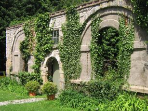 Garden wall at Plas Teg Estate in Scotland