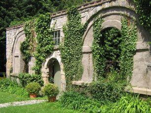 Garden wall at Plas Teg Estate in Scotland