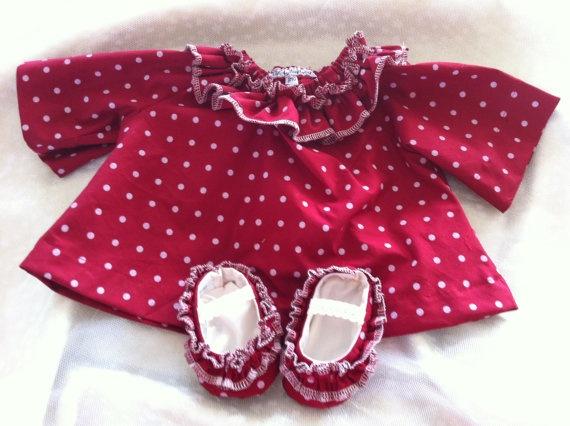 Baby Mae baby ruffle smock dress & matching ruffle by BubBoots, $49.95
