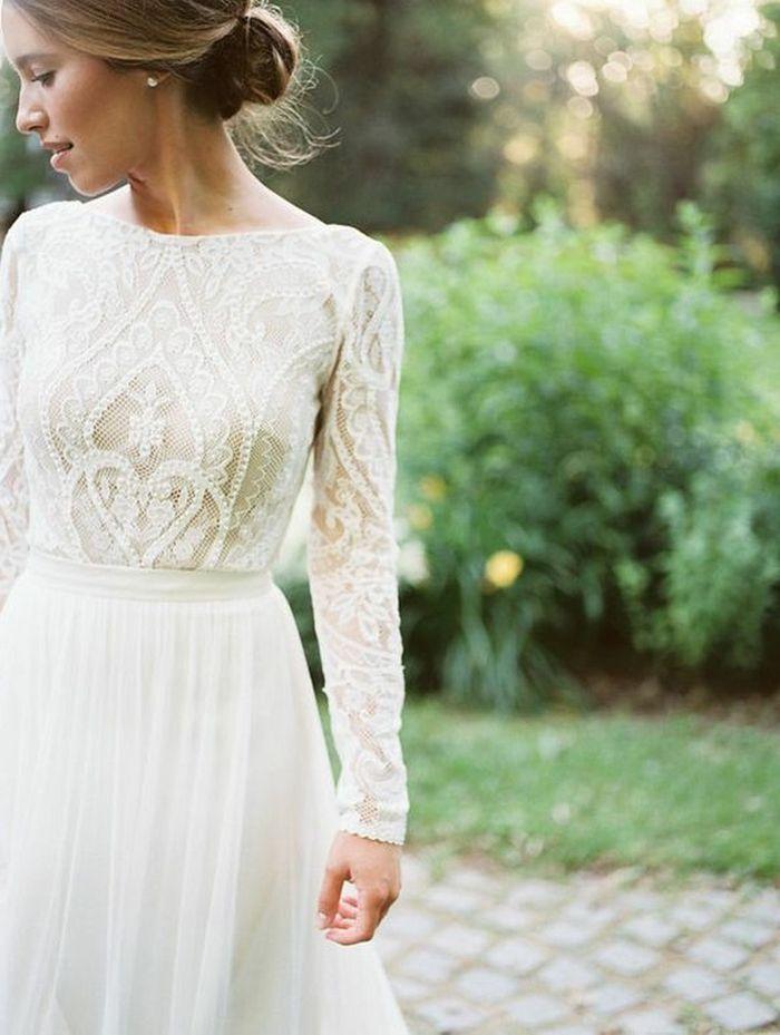 13654c88d ▷ 1001 + ideas de vestidos de novia sencillos para tu boda ...