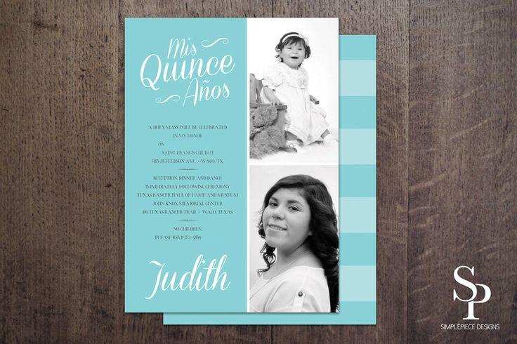 DIY Quinceanera Invitation, Quinceaños Invite, Sweet 15 Invitation, Mis Quince, Quinceanos Invite, Photo Card, Printable by SimplePieceDesigns on Etsy https://www.etsy.com/listing/216554249/diy-quinceanera-invitation-quinceanos