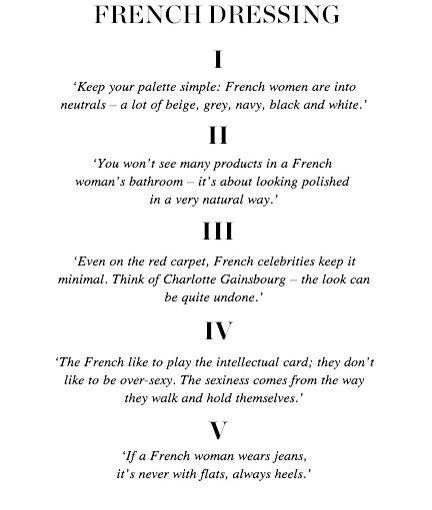 .French styling // Basic style guidelines I build from.