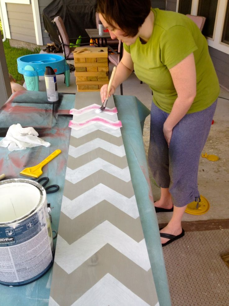 McCarty Adventures: DIY Crazy Easy Chevron Growth Chart Ruler