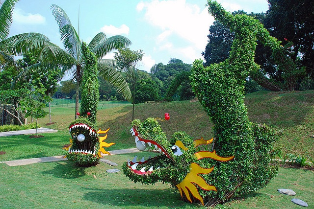 Dragon Topiaries