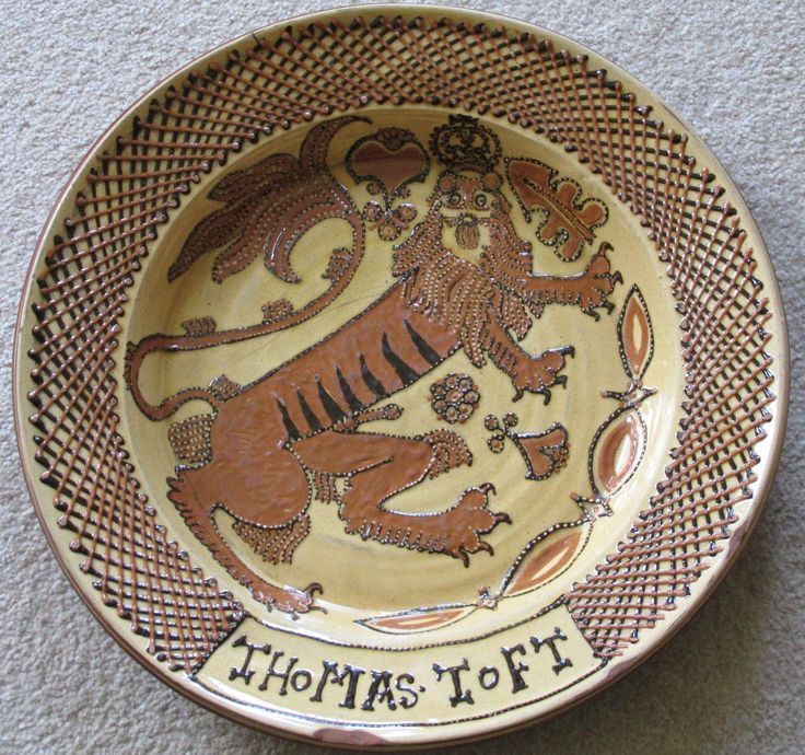 Details About Vintage Thomas Toft Slipware Charger In The