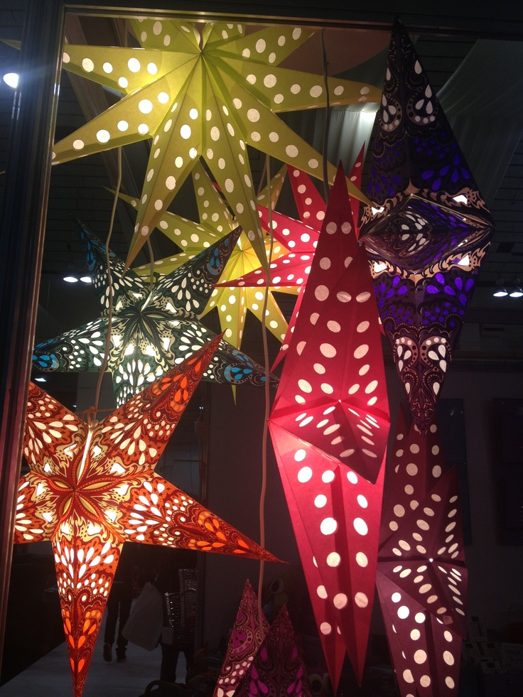 Multi-coloured paper stars by Bungalow