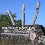 Puuhonua O Honaunau National Historical Park Big Island - historic attraction guarded by ancient totems