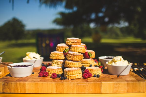 English Country Garden Downton Abbey Wedding Scones http://www.s6photography.co.uk/